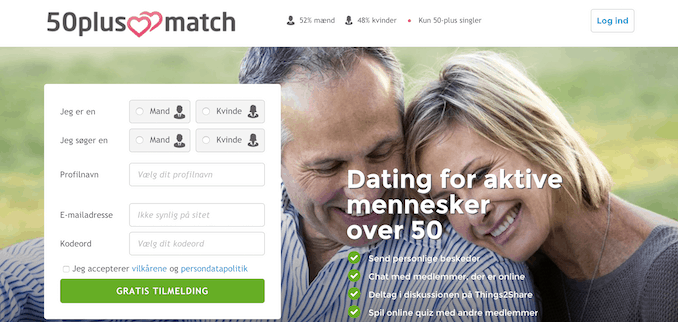 Plus 60 dating på 50plusmatch